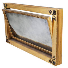 Early 19th century Regency Mechanical Overmantel Mirror