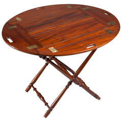 Fine Mahogany Butler's Tray on Stand
