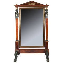Empire Period Full Length Dressing Mirror