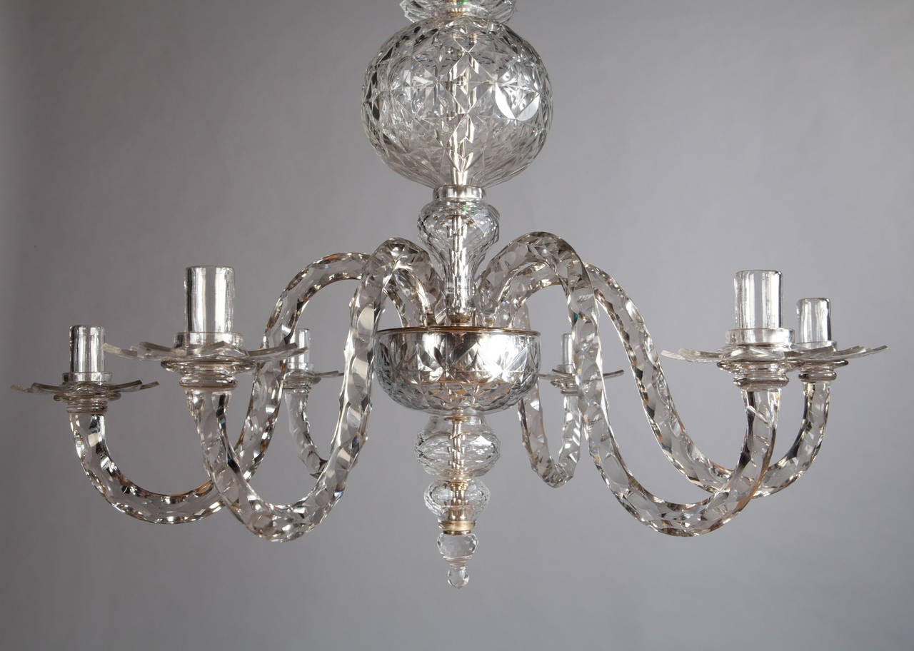 Cut glass chandelier chandelier designs cut glass chandelier in the manner of maydwell and windle at 1stdibs mozeypictures Images