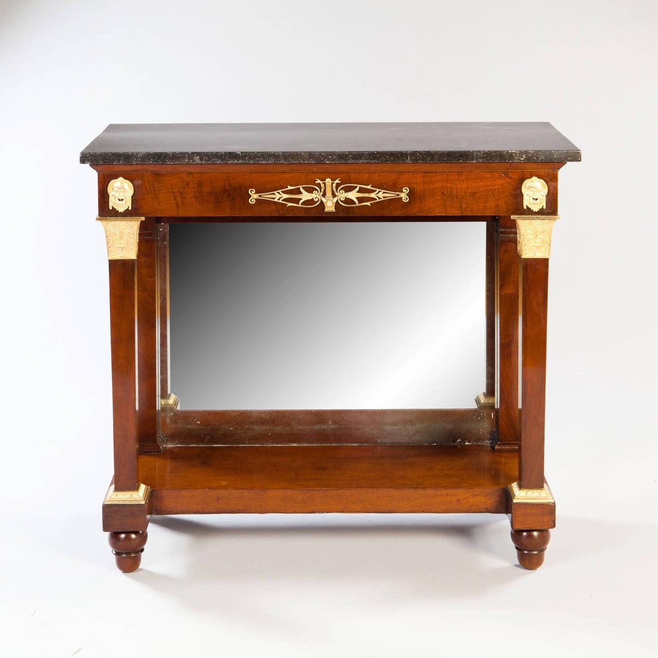 empire mahogany console desserte at 1stdibs. Black Bedroom Furniture Sets. Home Design Ideas