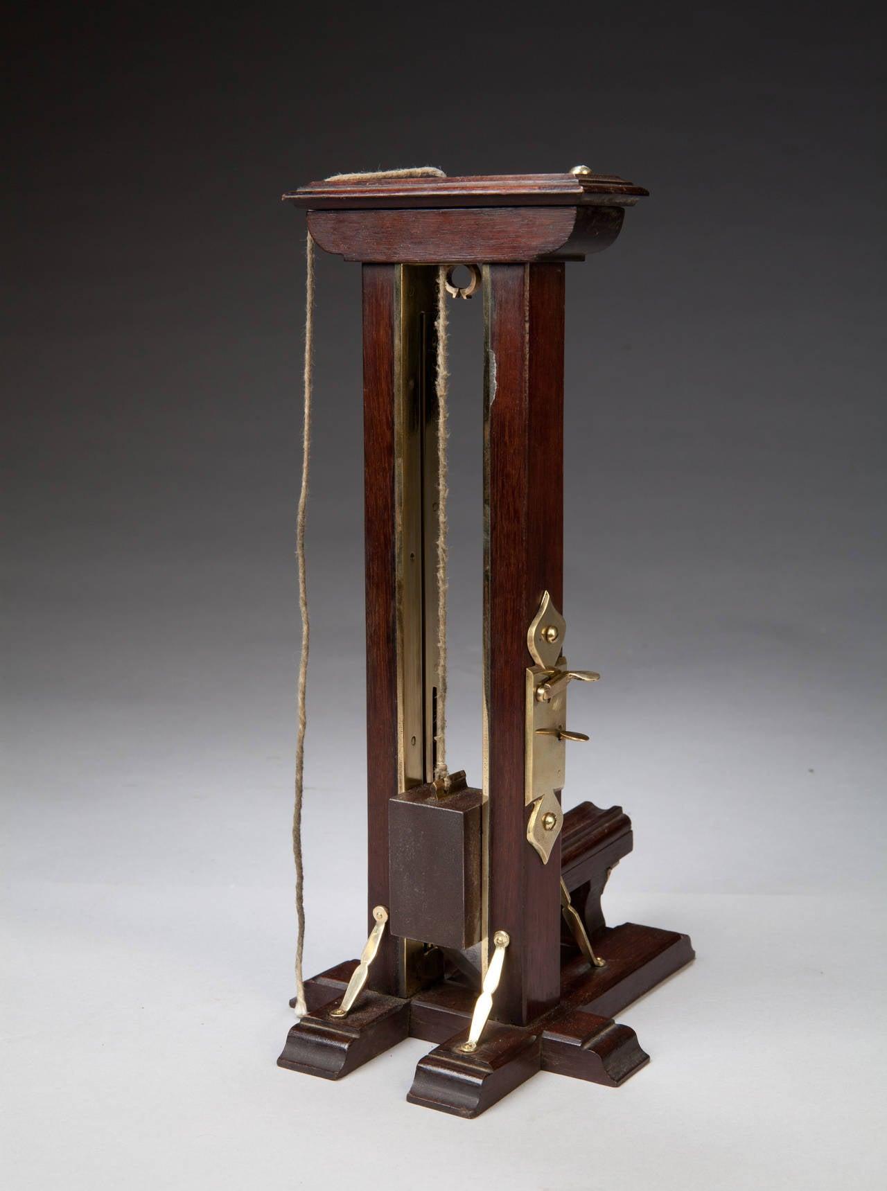 Ile du Diable Prisoner of War Mahogany and Brass Cigar Cutter For Sale 1