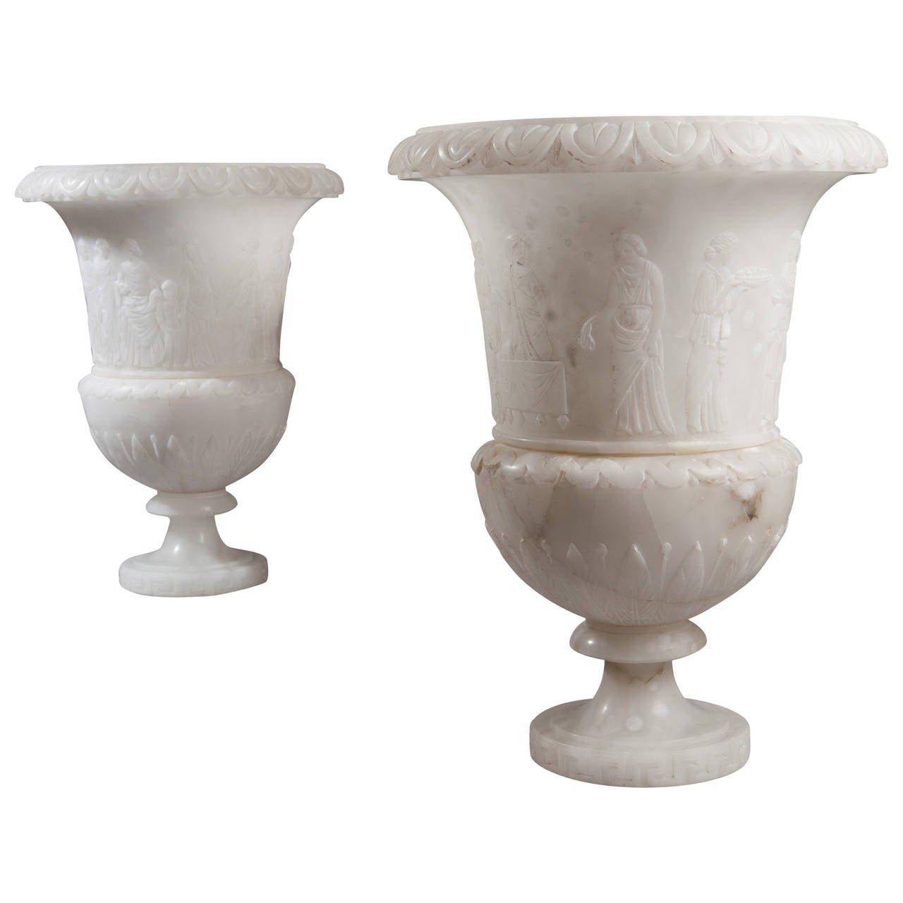 Pair of Alabaster Vases Now as Lamps