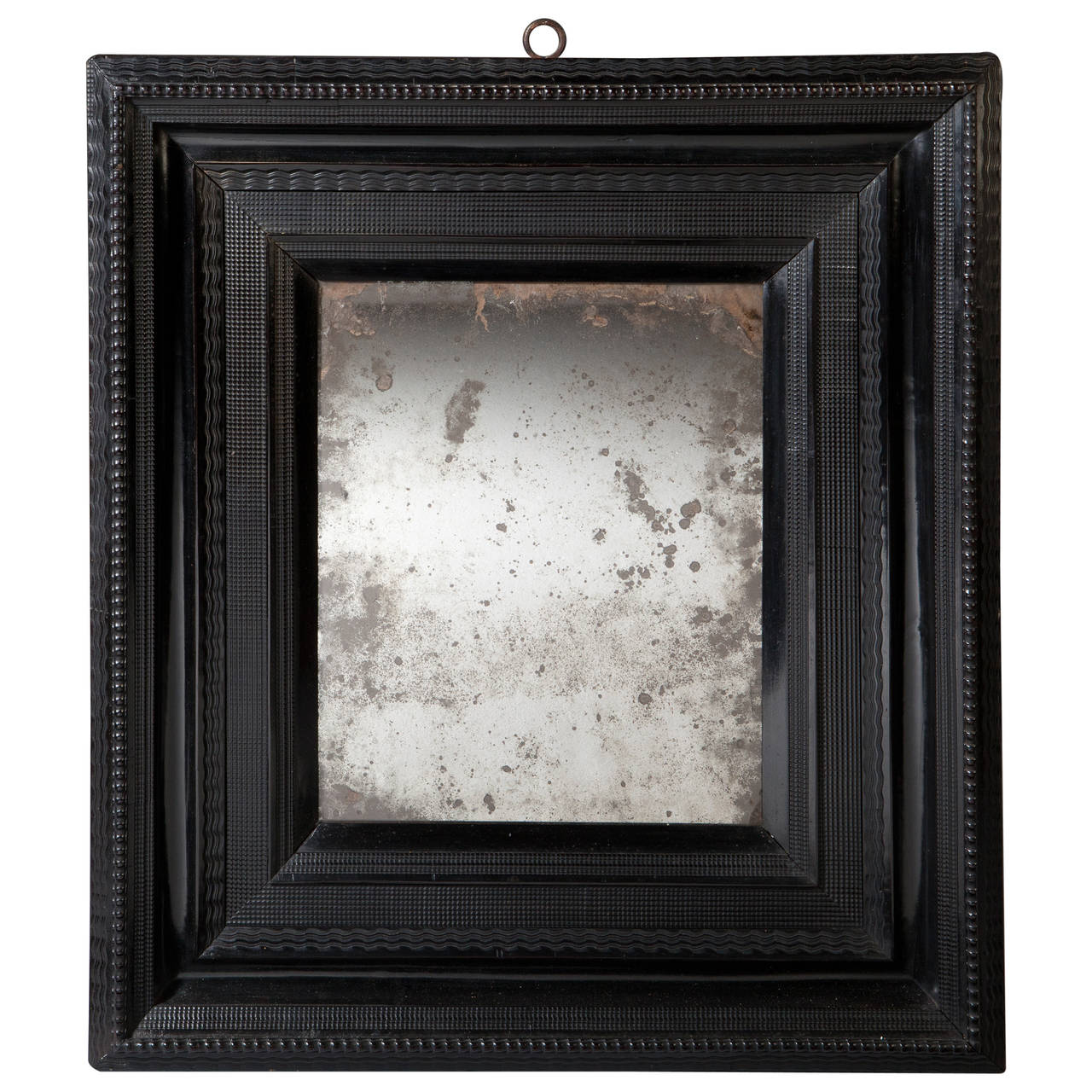 Late 17th century ebony ripple moulded mirror for sale at for 17th century mirrors
