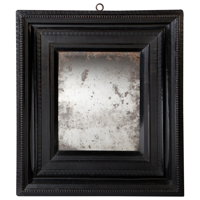 Late 17th Century Ebony Ripple Moulded Mirror