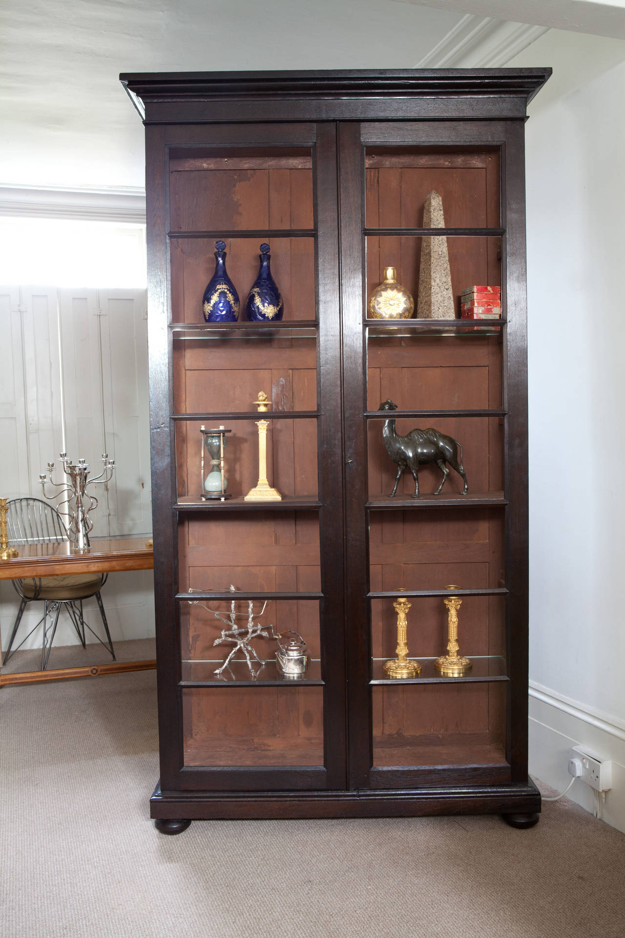 Pair Of Anglo Indian Glazed Display Cabinets Or Bookcases 2