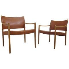 Pair of Per-Olof Scotte Easy Chairs, Model Premiär