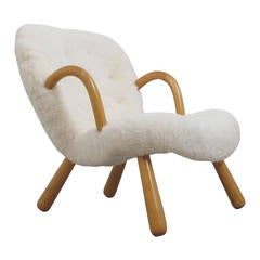 """Clam Chair"" by Philip Arctander, Denmark, 1940s"