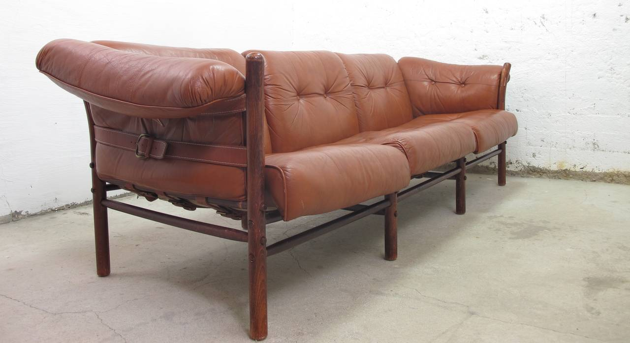 Enjoyable Arne Norell Leather Sofa Model Ilona For Sale At 1Stdibs Gmtry Best Dining Table And Chair Ideas Images Gmtryco