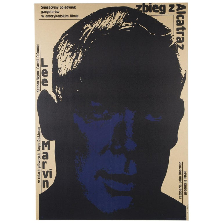 Point Blank Original Polish Film Poster, Bronislaw Zelek, 1970 For Sale