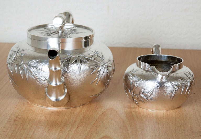 19th Century Chinese Silver Tea and Coffee Service For Sale
