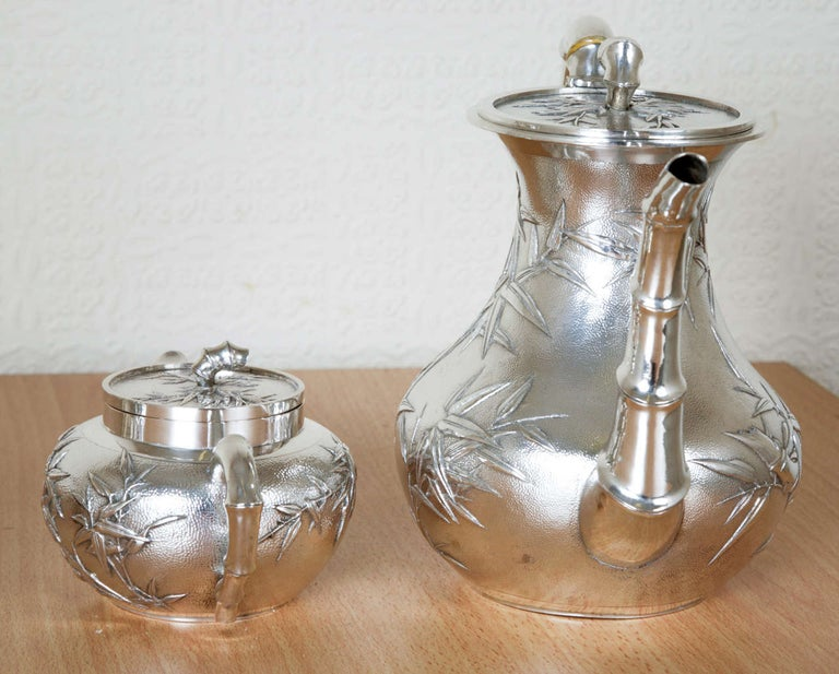 Chinese Silver Tea and Coffee Service For Sale 1
