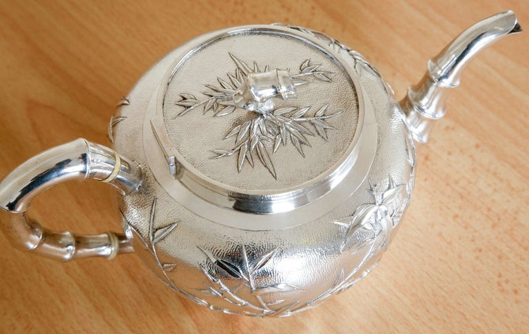 Chinese Silver Tea and Coffee Service For Sale 2