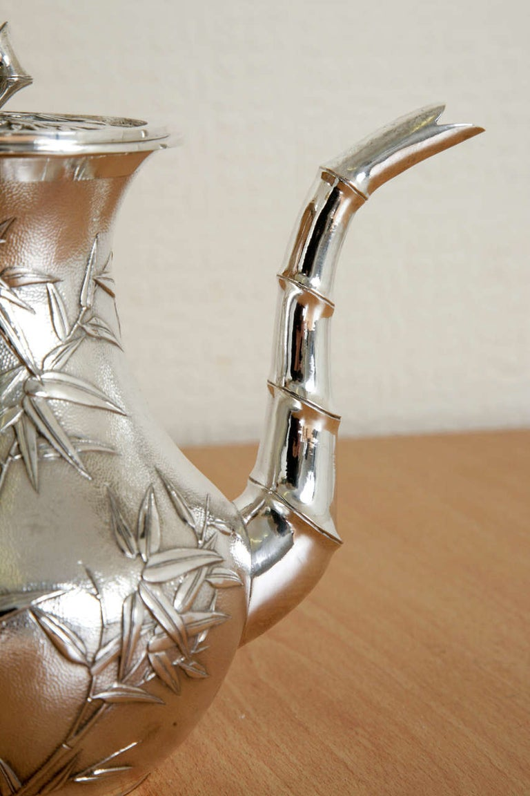Chinese Silver Tea and Coffee Service For Sale 3
