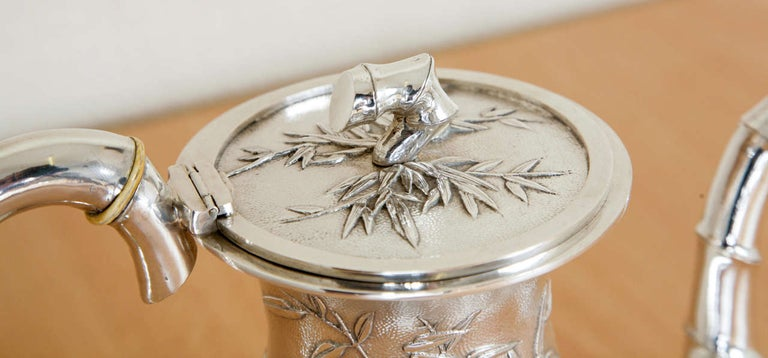 Chinese Silver Tea and Coffee Service For Sale 4