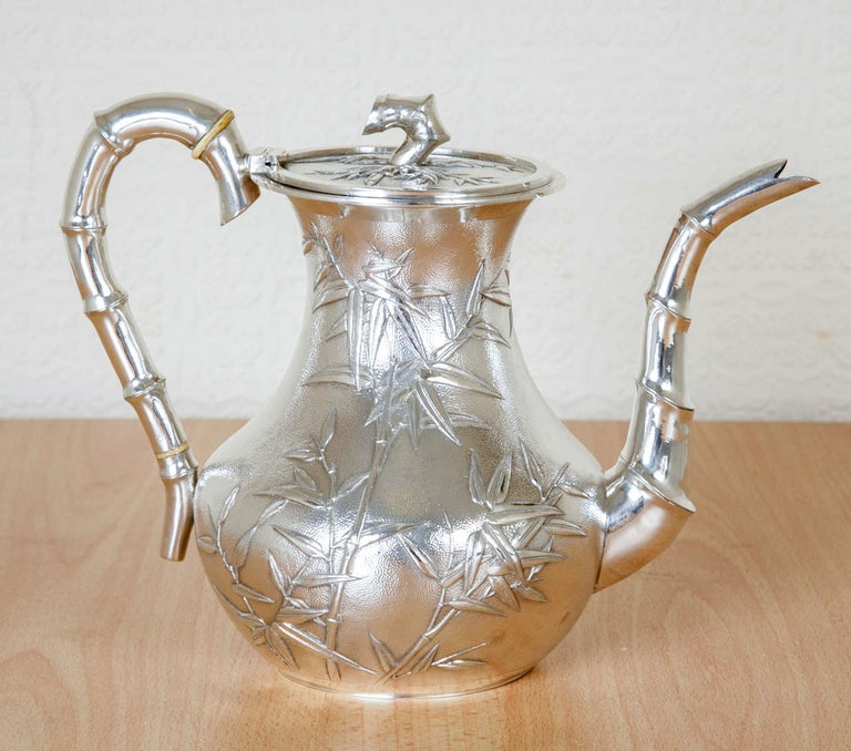 Chinese Silver Tea and Coffee Service For Sale 5
