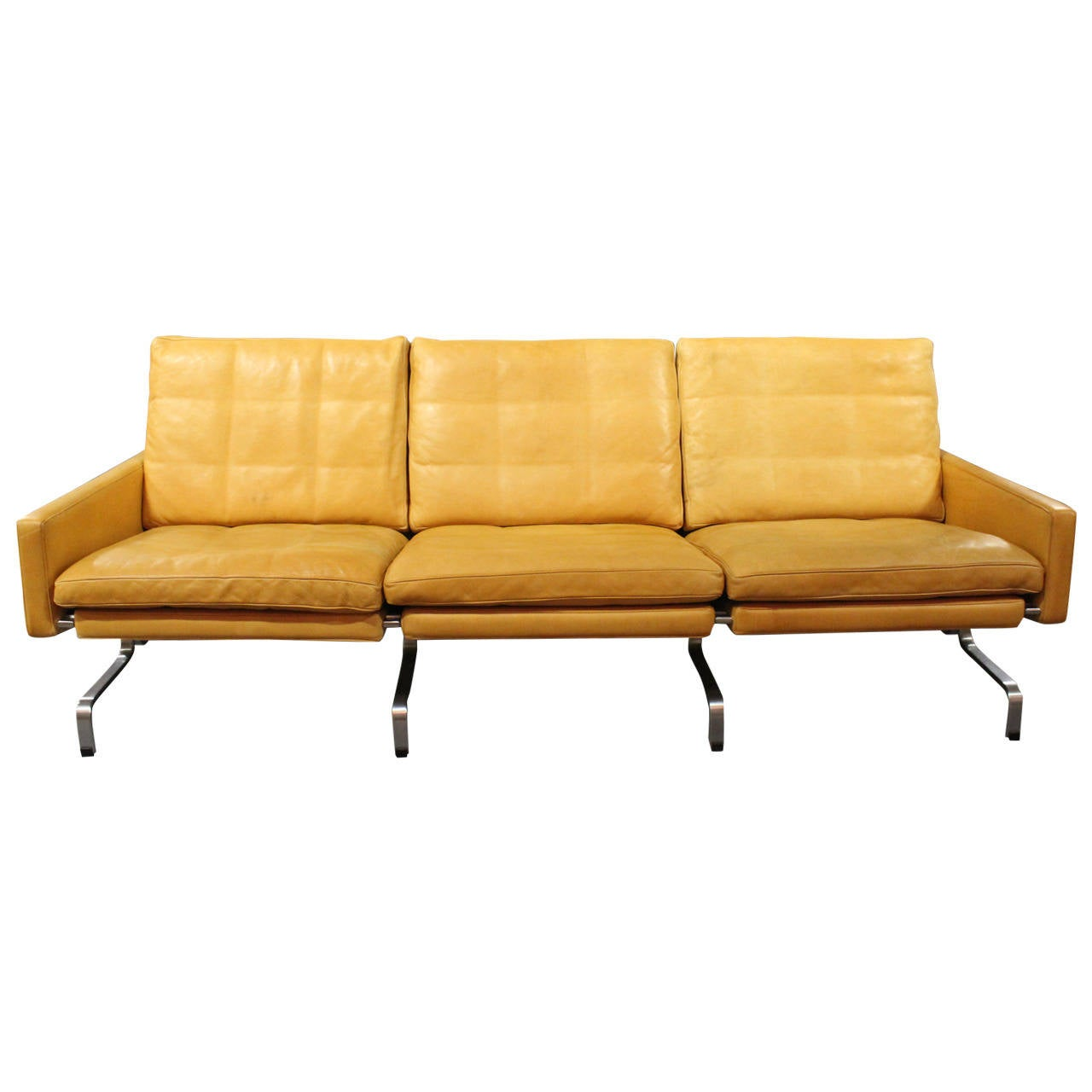 poul kj rholm sofa pk31 3 by fritz hansen 1997 for sale at 1stdibs. Black Bedroom Furniture Sets. Home Design Ideas