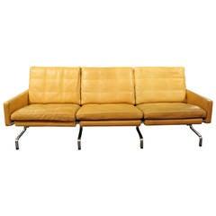 3 Seater sofa, model PK31/3, by Poul Kjærholm and Fritz Hansen, 1997