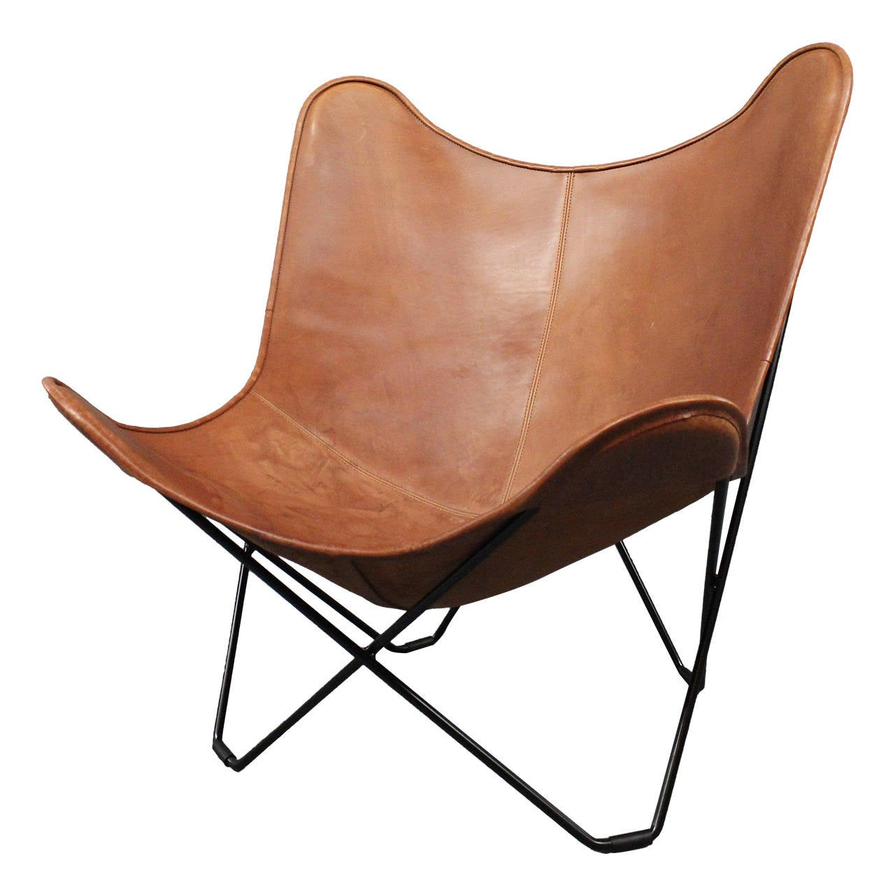 leather butterfly chair designed by jorge ferrari hardoy 1938 at 1stdibs. Black Bedroom Furniture Sets. Home Design Ideas