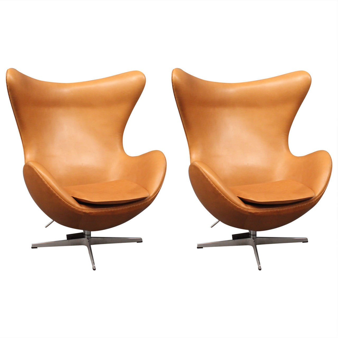 This arne jacobsen swan chair in cognac leather by fritz hansen is no -  Egg Chair Designed By Arne Jacobsen 1958 Manufactured By Fritz Hansen 1