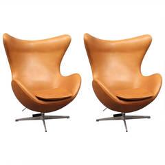 """Egg"" Chair Designed by Arne Jacobsen, 1958, Manufactured by Fritz Hansen"