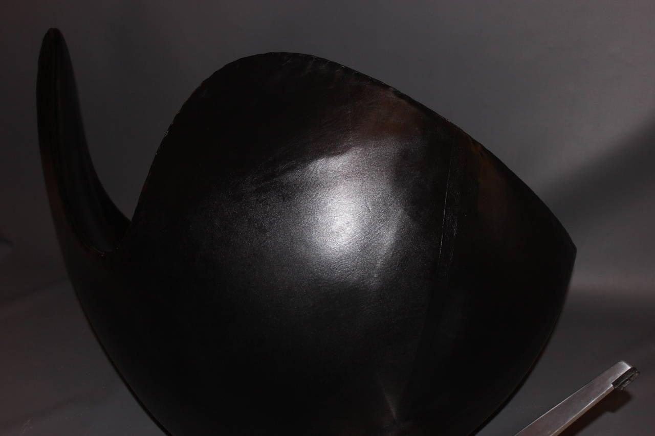 Aluminum The Egg, Model 3316, Original Upholstery by Arne Jacobsen & Fritz Hansen, 1963 For Sale