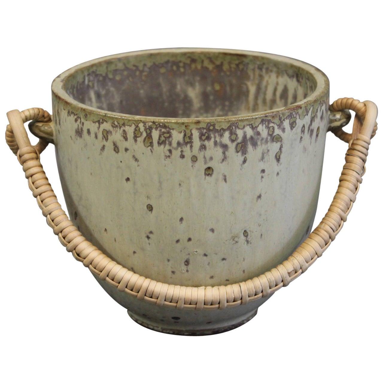 Jar By Arne Bang no. 15 in Glazed Stoneware, c. 1940-1960