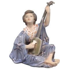 Oriental Figure, Geisha, No: 1155, Porcelain Figurine by Dahl Jensen