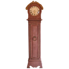 Antique, Gustavian Painted, Danish Longcase Clock, 18th Century