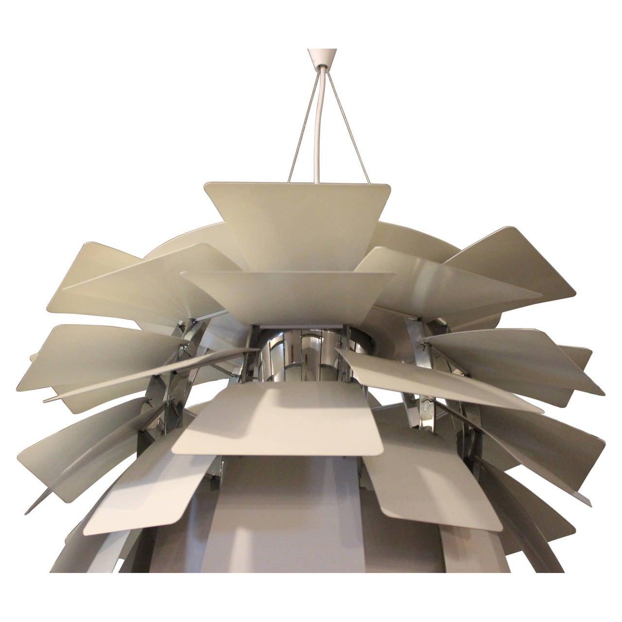 Danish Artichoke Pendant Designed by Poul Henningsen For Sale