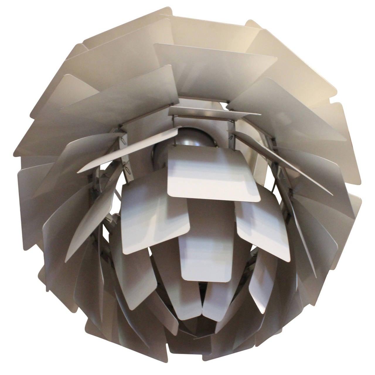 Painted Artichoke Pendant Designed by Poul Henningsen For Sale