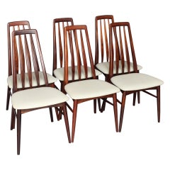 Set of Six, Model Eva, Dining Chairs by Niels Kofoed, 1964