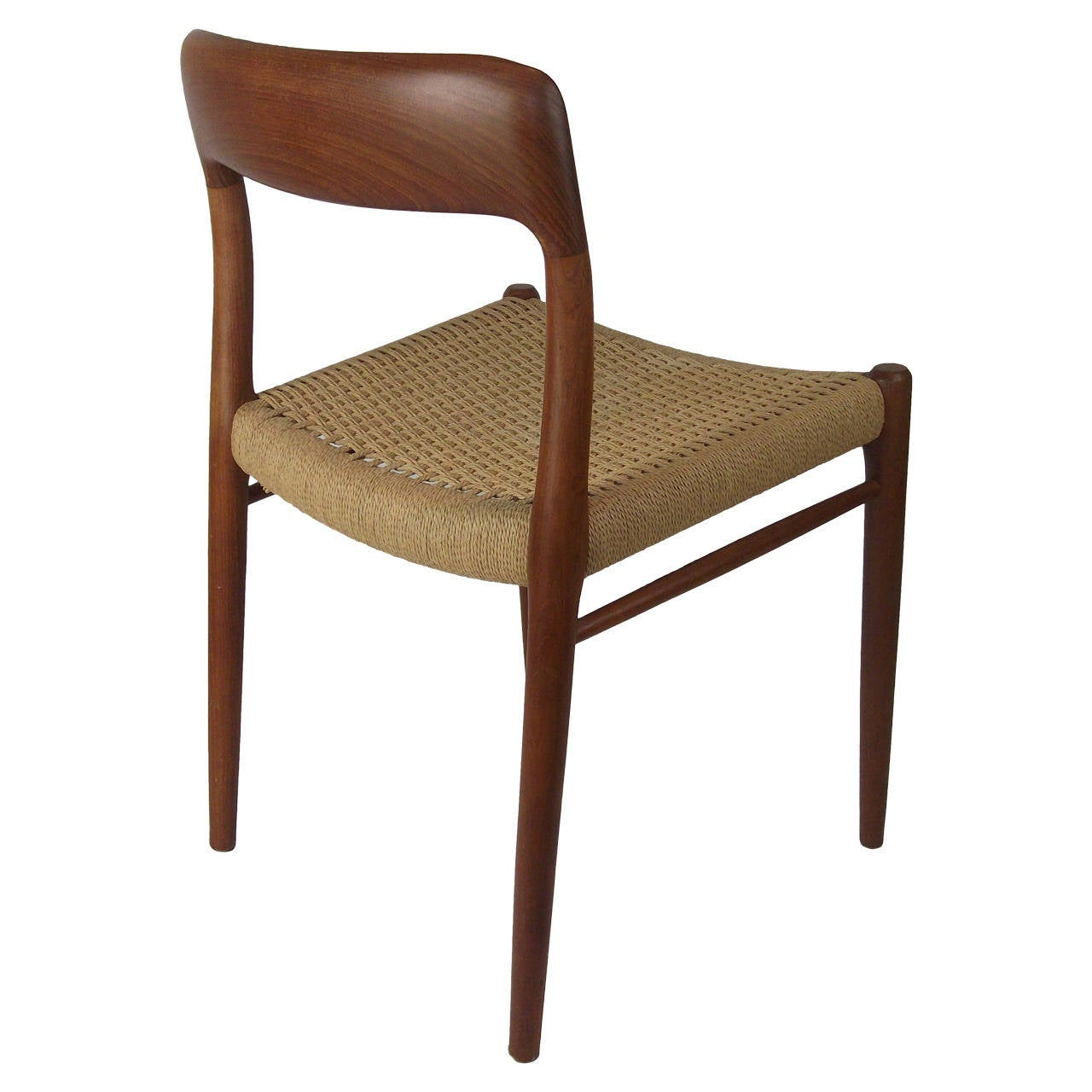 Vintage danish teak j l moller chair model at stdibs