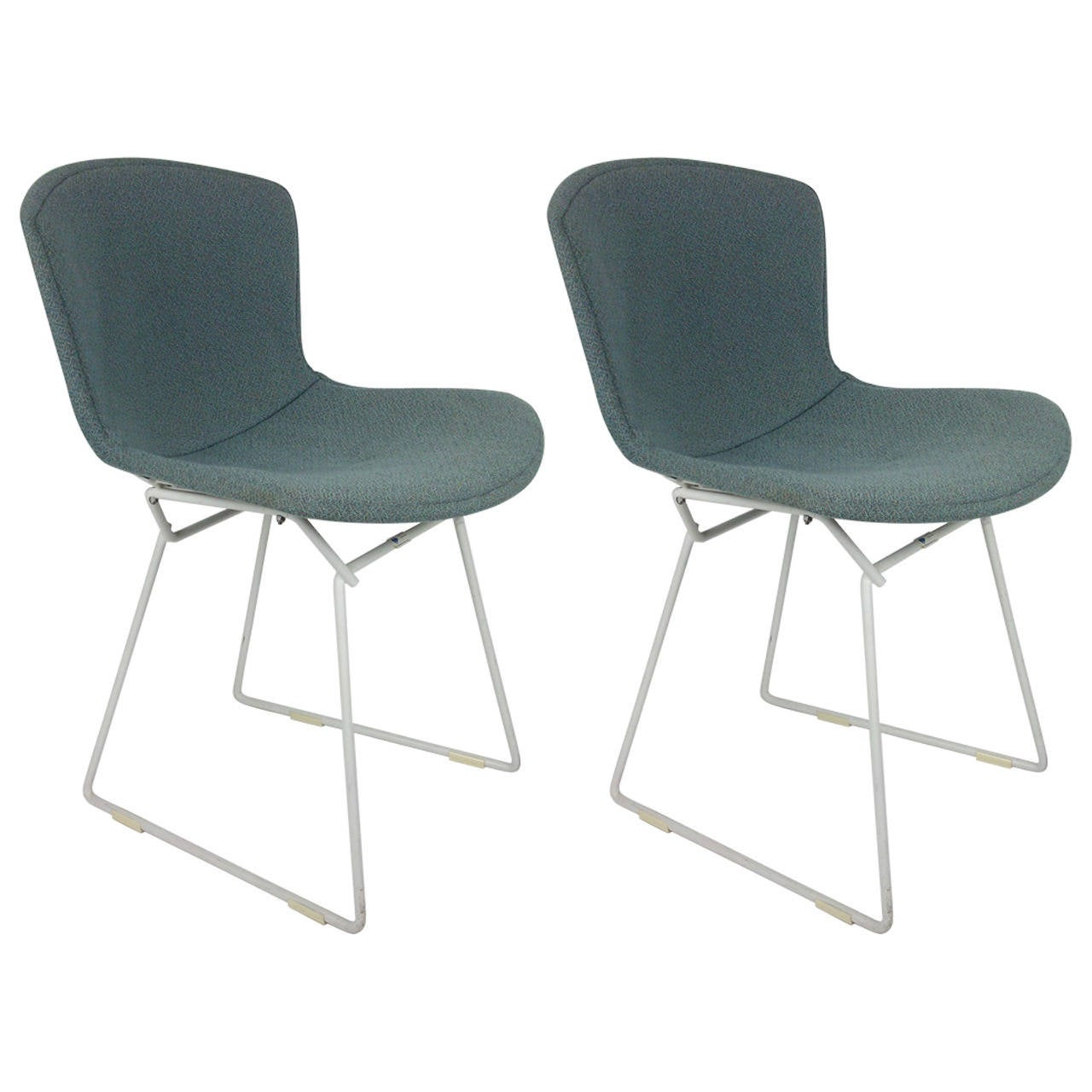 Pair of Original Vintage Harry Bertoia Wire Chairs for