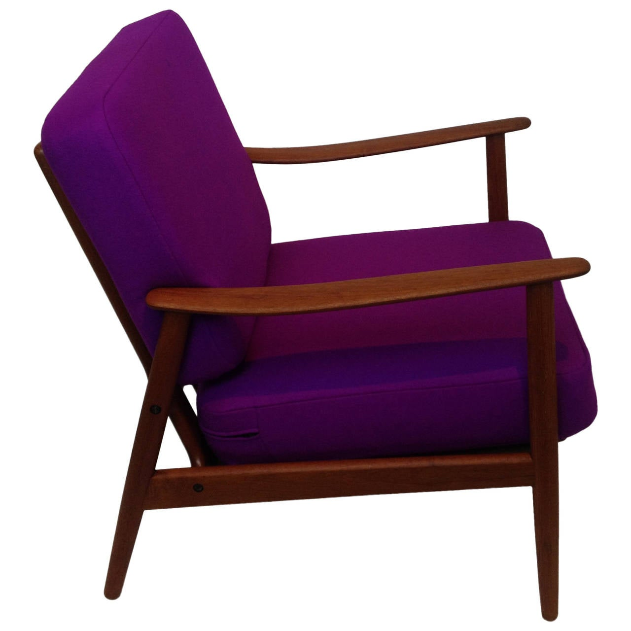 1960s danish modern teak easy chair at 1stdibs