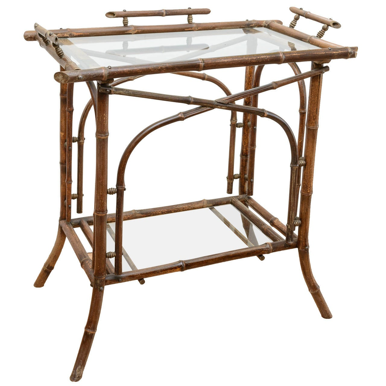 19th Century Bamboo Tea Table For Sale