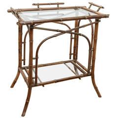 19th Century Bamboo Tea Table