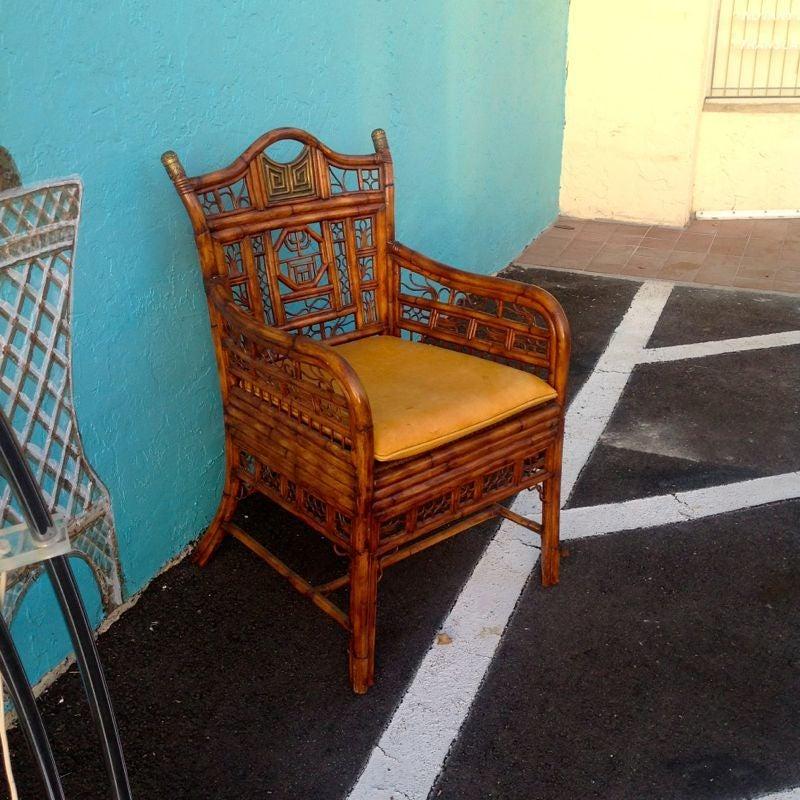 """Brighton"" Bamboo Armchair or Desk Chair 9"