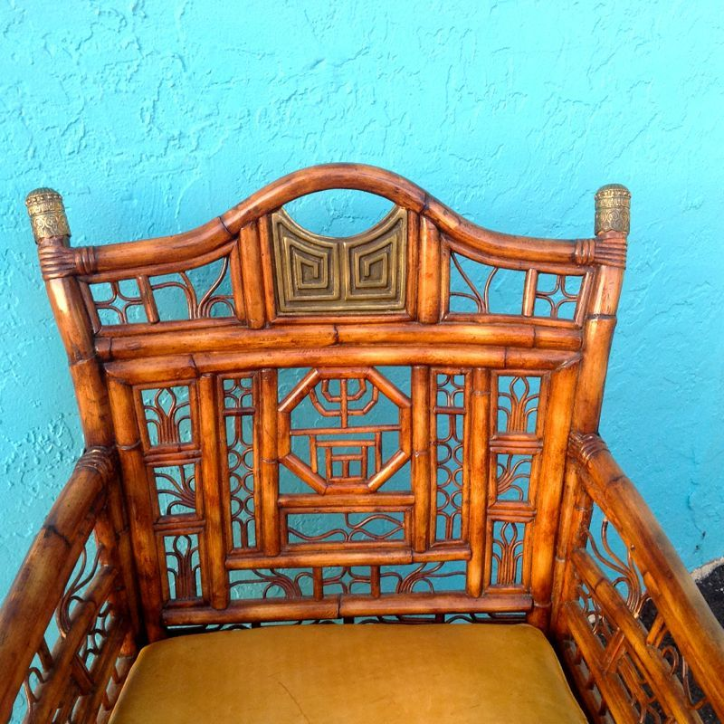 """20th Century """"Brighton"""" Bamboo Armchair or Desk Chair For Sale"""