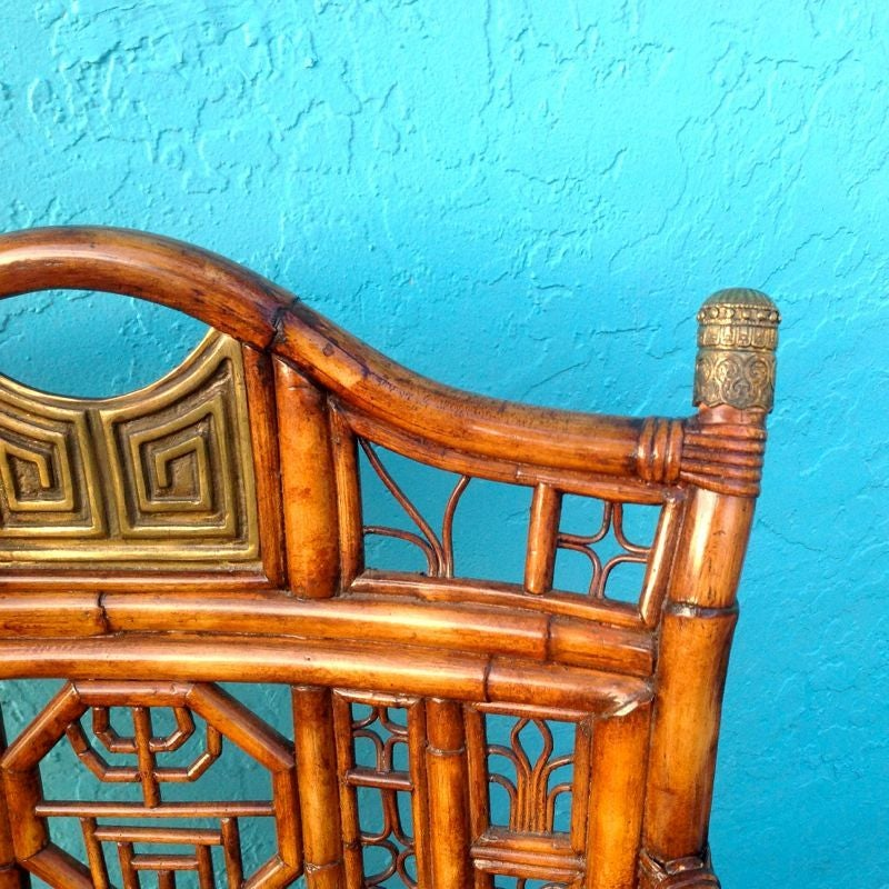 """""""Brighton"""" Bamboo Armchair or Desk Chair For Sale 6"""
