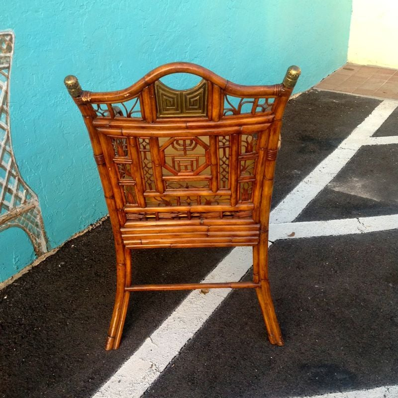 """""""Brighton"""" Bamboo Armchair or Desk Chair In Good Condition For Sale In West Palm Beach, FL"""