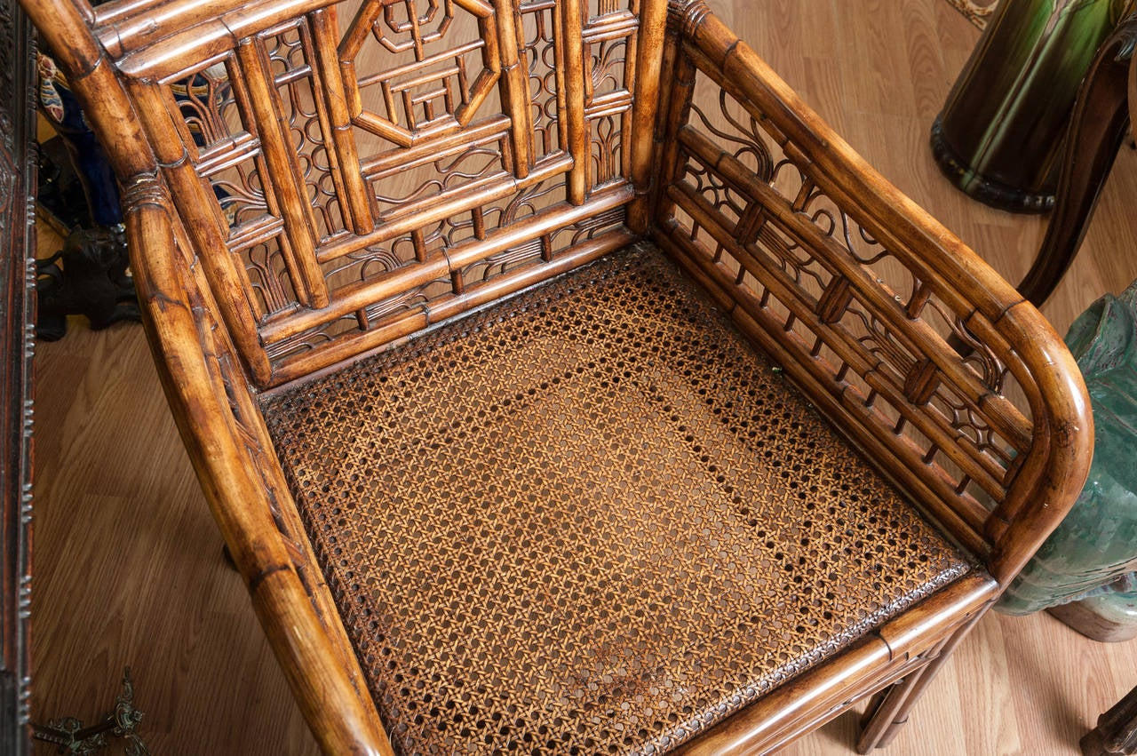 """Brighton"" Bamboo Armchair or Desk Chair 6"