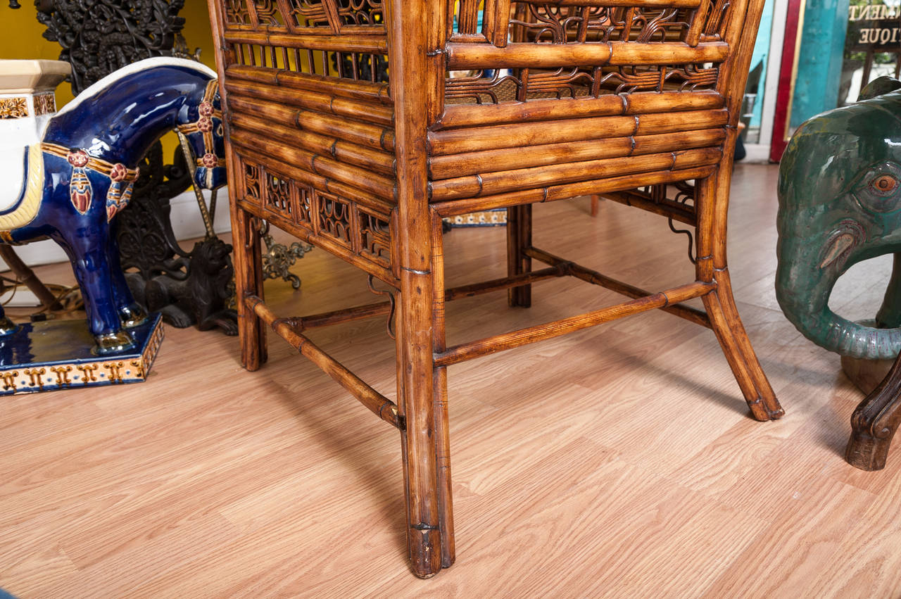 """""""Brighton"""" Bamboo Armchair or Desk Chair For Sale 4"""
