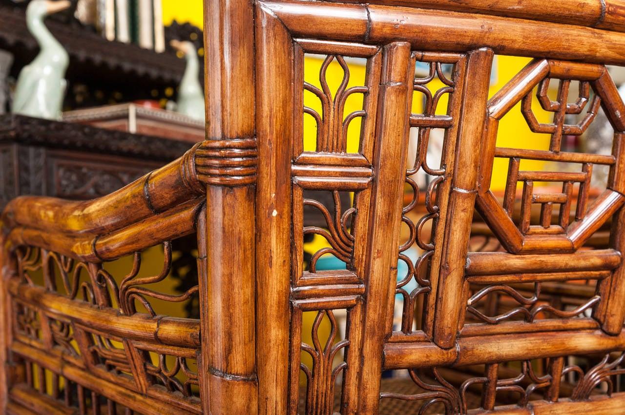 """Brighton"" Bamboo Armchair or Desk Chair 7"
