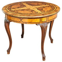 Outstanding Inlaid Italian Center Table