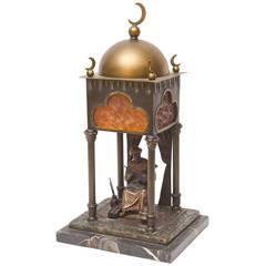 Franz Bergman Orientalist Bronze Boudoir Lamp