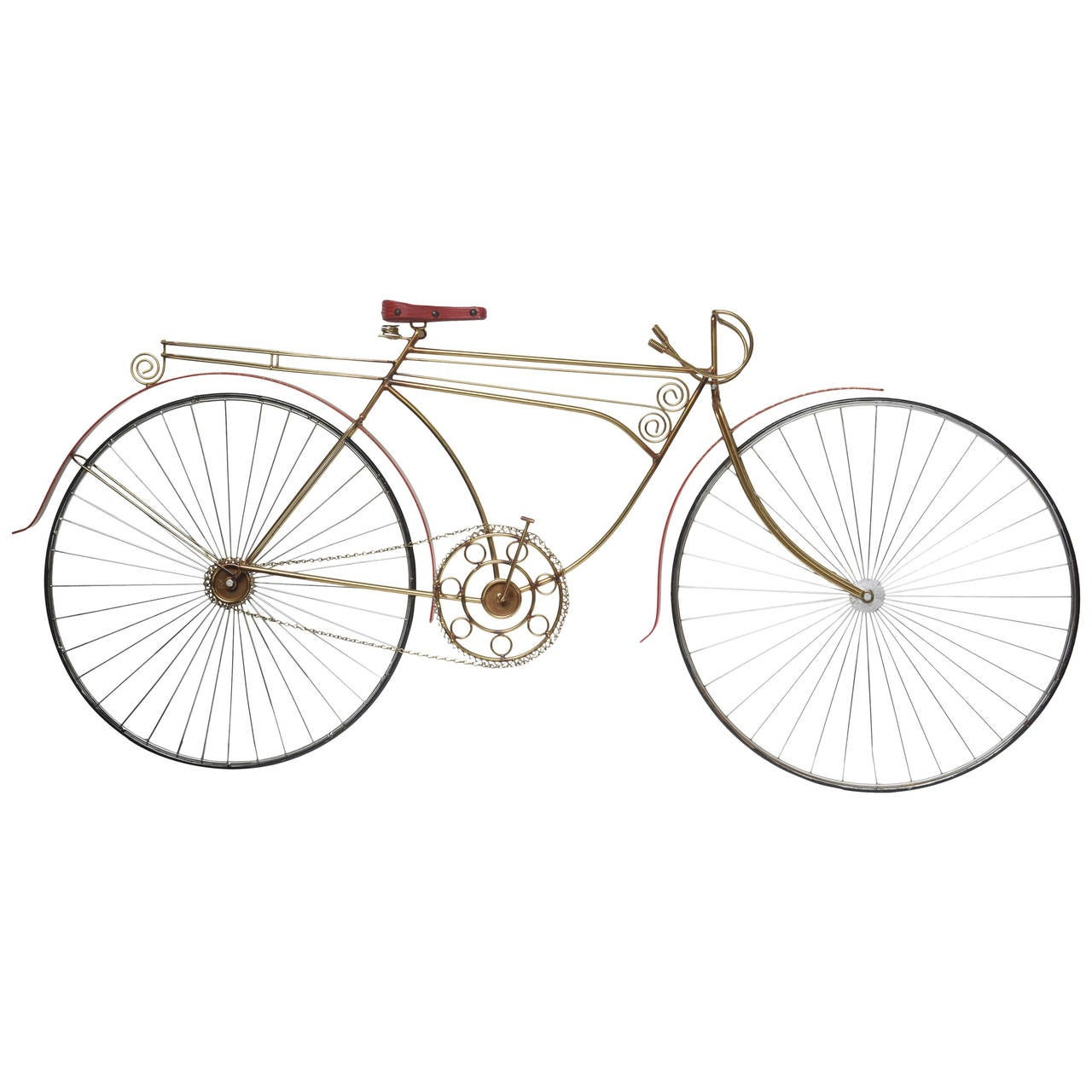 Curtis jere bicycle wall art sculpture at 1stdibs for Bicycle wheel wall art