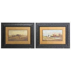 Pair of British Sporting Paintings, Signed Philip Rideout, 1892
