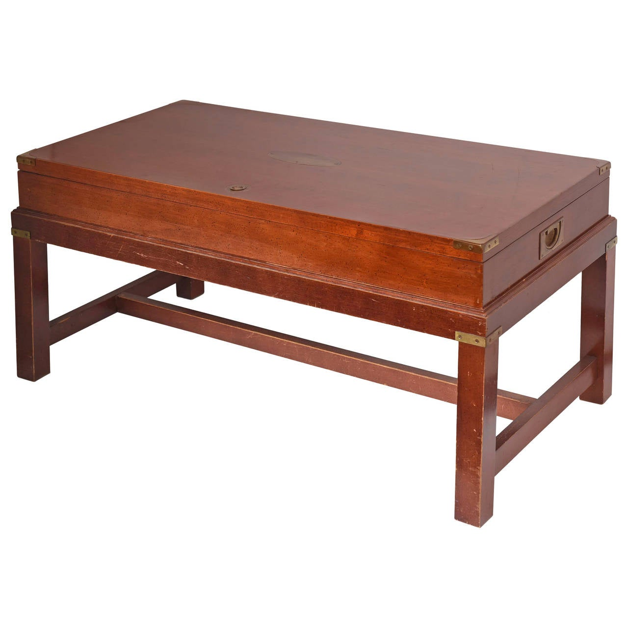 Coffee Table With Gun Drawer Plans: Campaign Gun Cabinet Mounted As A Cocktail Table At 1stdibs