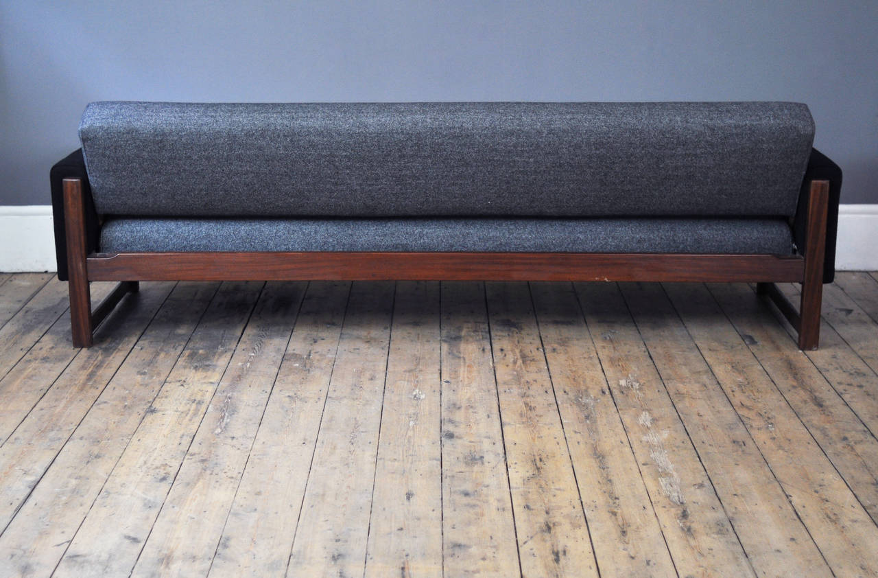 Scandinavian mid century sofa bed designed by yngve for Scandinavian sofa bed